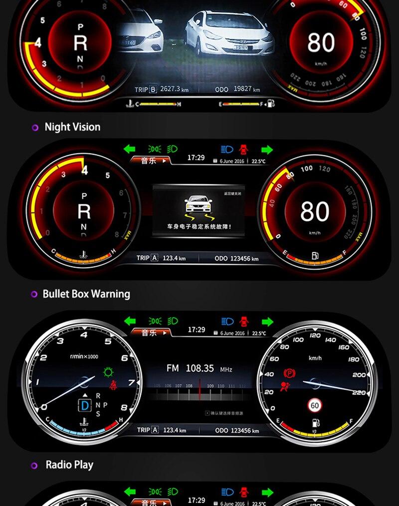 LiisLee Instrument Panel Replacement Dashboard Entertainment Intelligent System for Toyota Highlander Kluger XU50 2013~2019 (7)