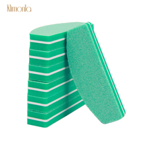 New 20pcs Half Moon Nail File Green Washable Art Sponge Buffers For Polish Manicure Care Tools Professional 100/180