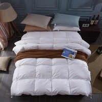 100% blanc canard/duvet d'oie d'hiver couette couette couverture couette couverture de coton de remplissage double unique reine roi souper taille bateau rapide