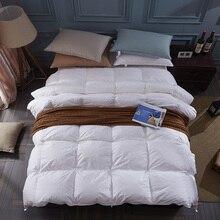 100% белая утка/гусиный пух зима одеяло стеганое одеяло пуховое одеяло наполнитель хлопок крышки Твин один королева ужин king size быстрая доставка
