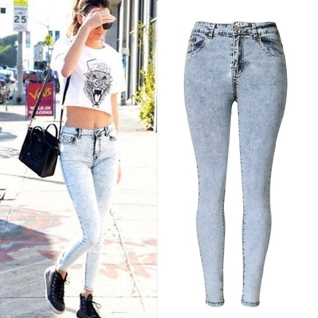 Aliexpress.com : Buy New Fashion Ladies High Waist Jeans Skinny ...