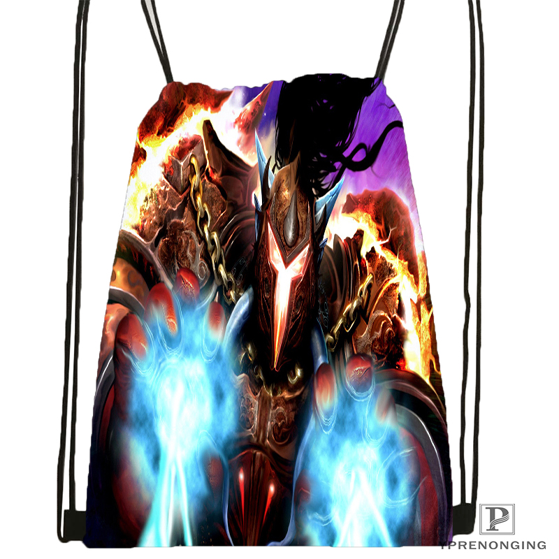Custom Marvel Comics Avengers  Drawstring Backpack Bag For Man Woman Cute Daypack Kids Satchel (Black Back) 31x40cm#180531-01-42