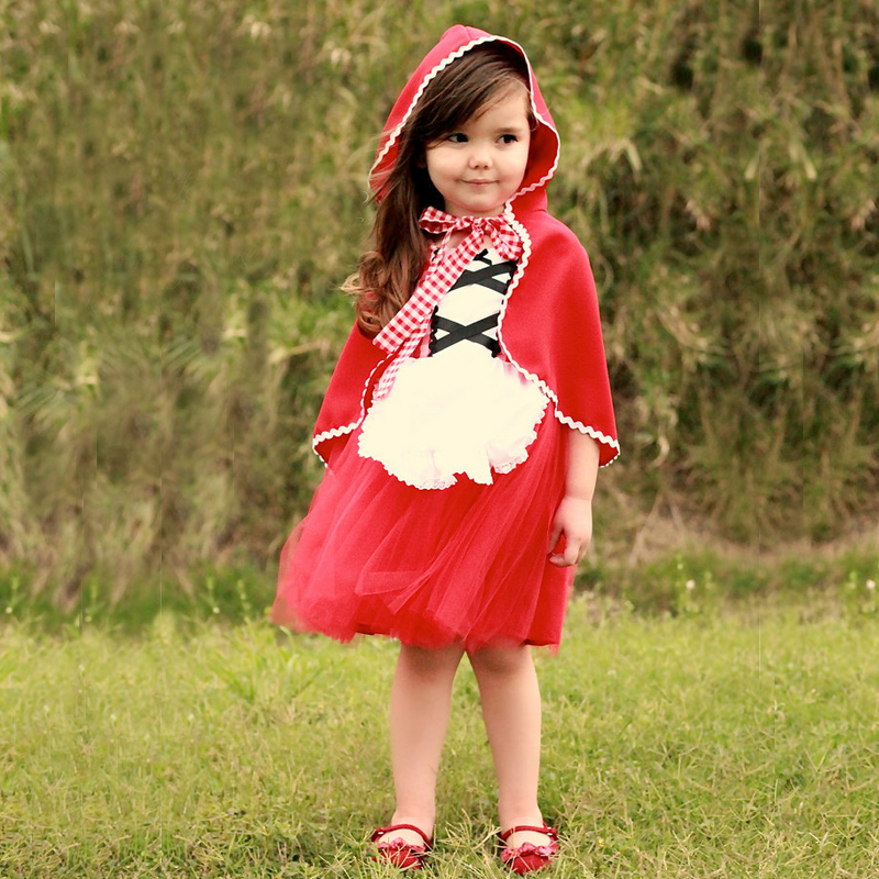 Baby Little Red Riding Hood Tutu Dress Princess Christmas ...
