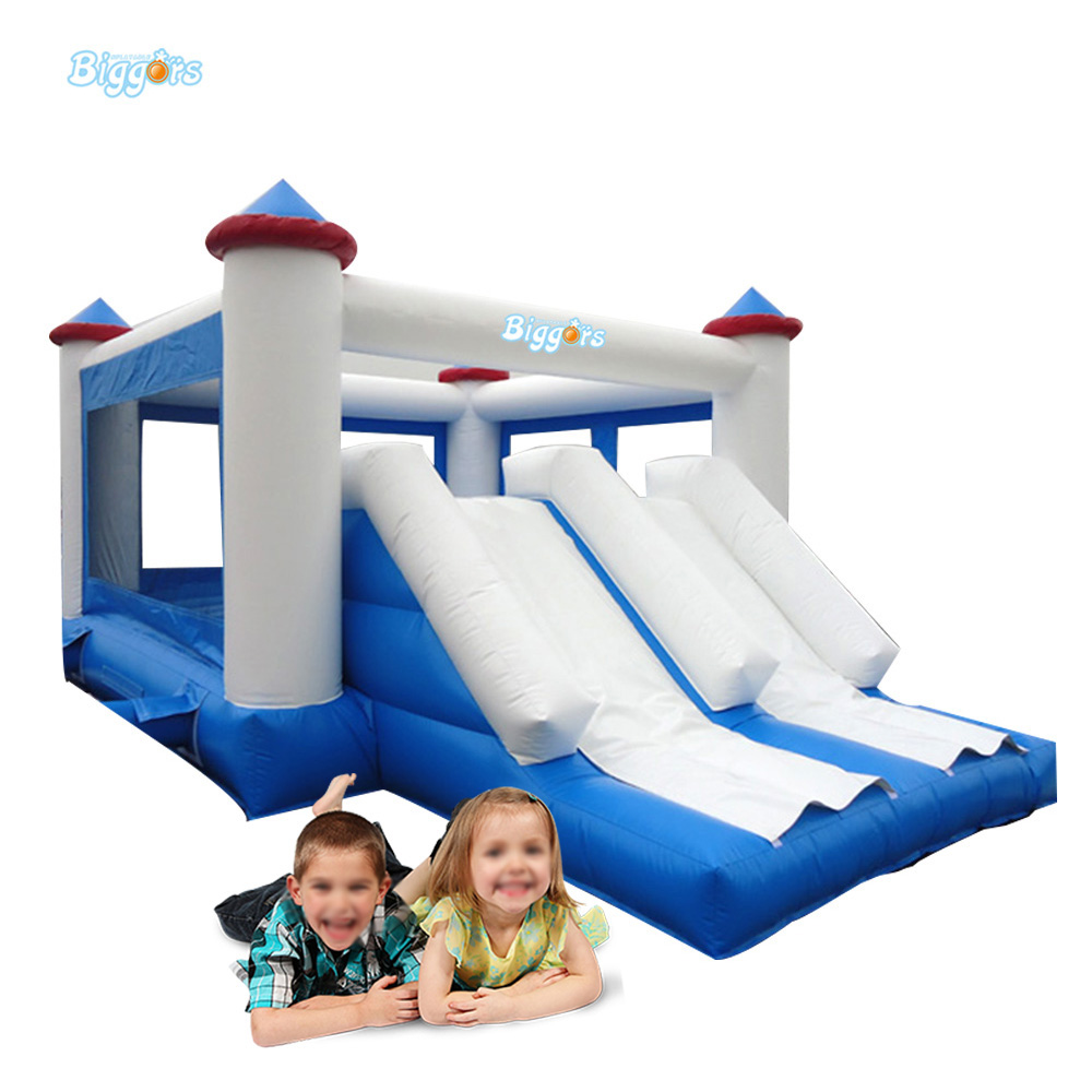 Custom Logo Inflatable Slide Combo with Bouncy Castle for Children 6 4 4m bounce house combo pool and slide used commercial bounce houses for sale