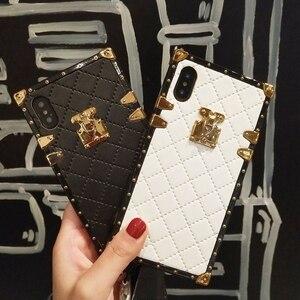 Image 2 - Aoweziic 高級ブランド革ケース iphone 11 プロマックス xr xs 最大電話ケースバックカバー 6s 7 8 プラス PU ソフトシェルとストラップ