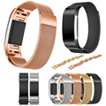 Magnetic Milanese Loop Band For Fitbit charge 2 smart bracelet high quality stainless steel strap for charge 2 band