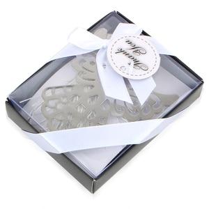 Image 2 - Marcador de anjo de prata para batismo, chá de bebê, lembranças, festa, batismo, presente de casamento, convidado, 50 peças, caixa de presente
