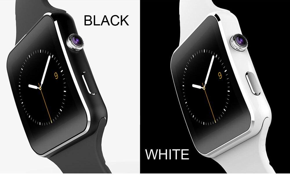 003 X6蓝牙智能手表触摸屏可穿戴设备支持SIM卡手表手机适用于Iphone三星华为Android小米wavefun xpods 3