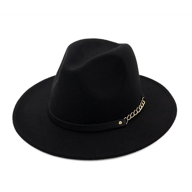Luxry Brand Jazz Hat Unisex Wool Wide Brim Fedoras Hats Women Vintage Wide Brim Floppy Chapeau Femme Panama Hat