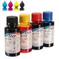 Um Conjunto de 4 pçs/lote Cor da Tintura 100 ml bulk ink de recarga de Tinta Universal para hp para canon para lexmark para dell todos impressora jato de tinta