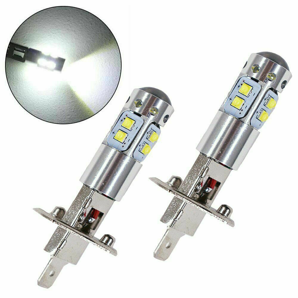 2 Pcs Auto Licht-emittierende Diode Scheinwerfer DRL Weiß DC 12 V H1 6000Kar Nebel Lampe Autos 100 W LED Tagfahrlicht Lampen