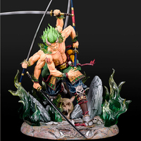 Anime One Piece GK Roronoa Zoro Asura Ver. PVC Action Figure Collection Model Toys