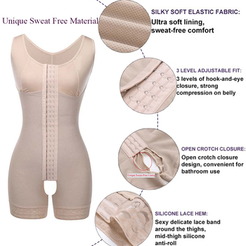 Lover Beauty Full Body shaper Modeling Shapewear Waist Cincher Underbust Bodysuit Slimming Waist Trainer Seamless Shapewear 3