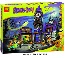 BELA 10432 Compatible Legoing Scooby Doo Figures Mystery Mansion 75904 Building Bricks Educational Toys For Children gifts