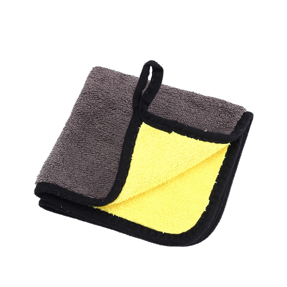 Car-Wash-Towel Detailing Cloth Microfiber Velvet Thick Coral Hemming Multi-Size Two-Color