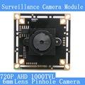 """AHD Quatro em um módulo de câmera 1000TVL CCTV night vision Mini 6mm Pinhole camera 1/4 """"sensor de imagem CMOS câmeras de vigilância"""