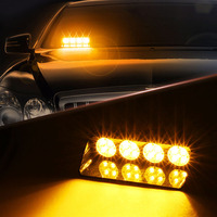 16LED 16W Windshield Led Strobe Light Car Flash Signal Emergency Fireman Police Beacon Warning Light Red