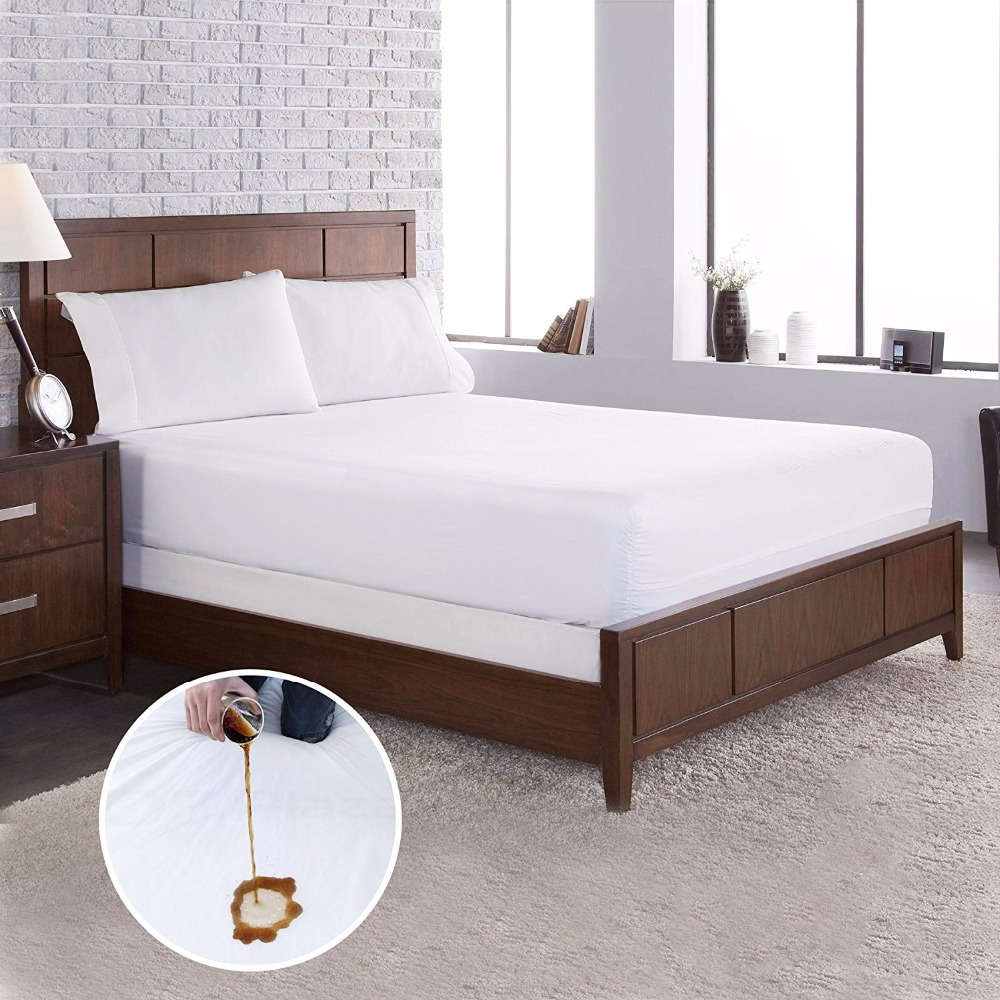 2018 New High Quality Terry Cloth Fabric Dust Mite Mattress Protector Waterproof and Bed Bug Mattress Cover Cotton Fabric
