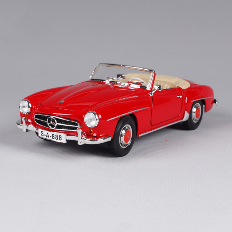 1:18 diecast Car 1955 190SL Roadster W121 Coupe Red Classic Cars 1:18 Alloy Car Metal Vehicle Collectible Models toys For Gift цена 2017
