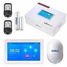 Nouvelle arrivée incroyable conception 7 Pouce TFT Couleur à Écran plat WIFI + GSM Système D'alarme KR-K7