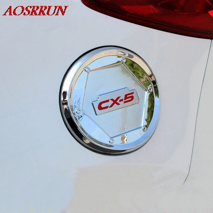 Car Exterior <font><b>Accessories</b></font> Fuel Tank Cover Trim Decoration ABS Stickers Fit For <font><b>mazda</b></font> cx-5 <font><b>cx5</b></font> cx 5 2012-2016 Up Car Styling image