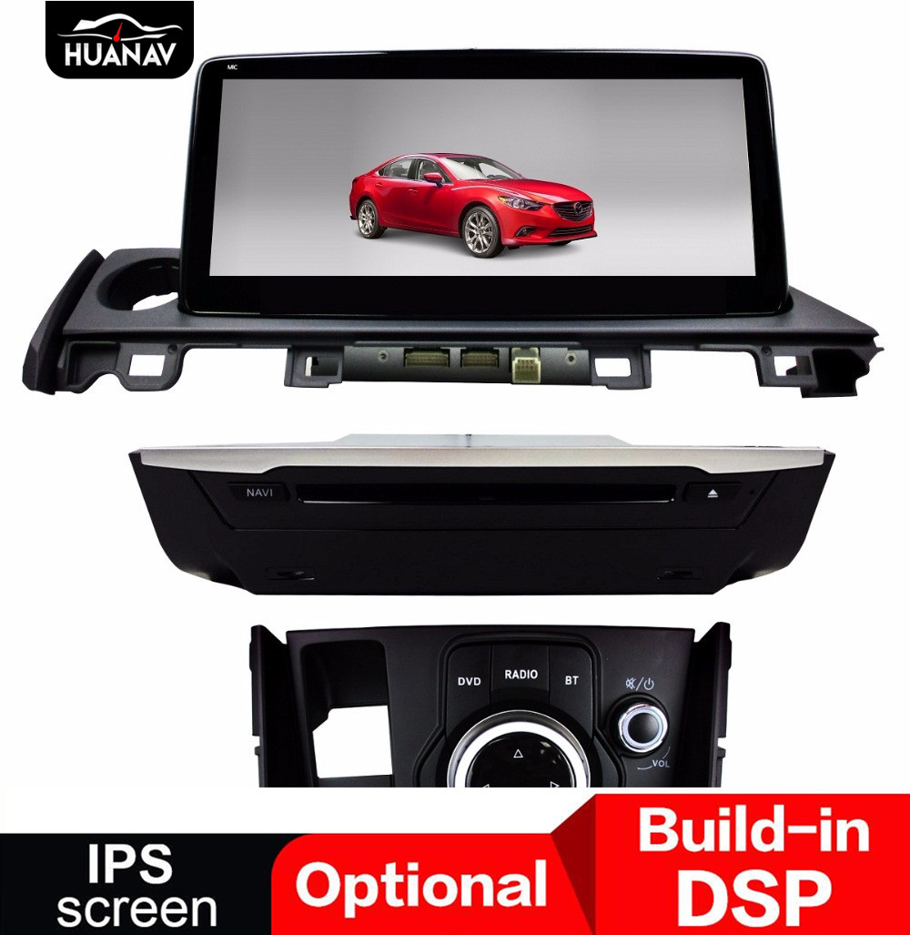DSP Android 9.0 Car DVD Player <font><b>GPS</b></font> <font><b>navigation</b></font> For <font><b>Mazda</b></font> <font><b>6</b></font> 2017 2018 Car auto radio stereo multimedia player head unit Video DIN image