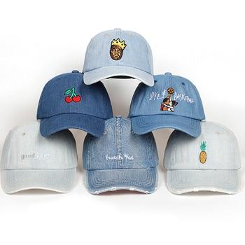 Gorra de béisbol de tela vaquera lavada de algodón de alta calidad para  hombres 016e7804acb
