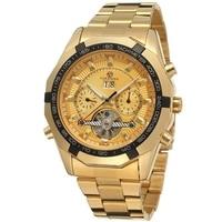 2018 FORSINING Mens Watches Top Luxury Brand Men Tourbillon Watch Automatic Mechanical Men Gold Wrist Watch