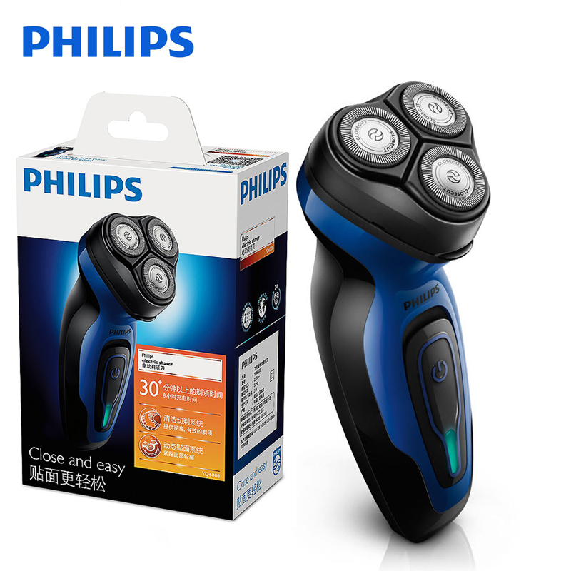 New Philips Electric Shaver YQ6008 With Triple Blade Rotate Rotary Rechargeable 100-240V Face Beard For Men's Electric Razor