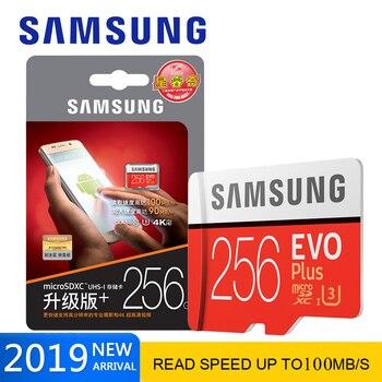 New product Original SAMSUNG EVO+ Memory Cards 64GB EVO plus U3 128 GB 256 GB Class10 Micro SD Card 32GB  microSD UHS-I TF Card