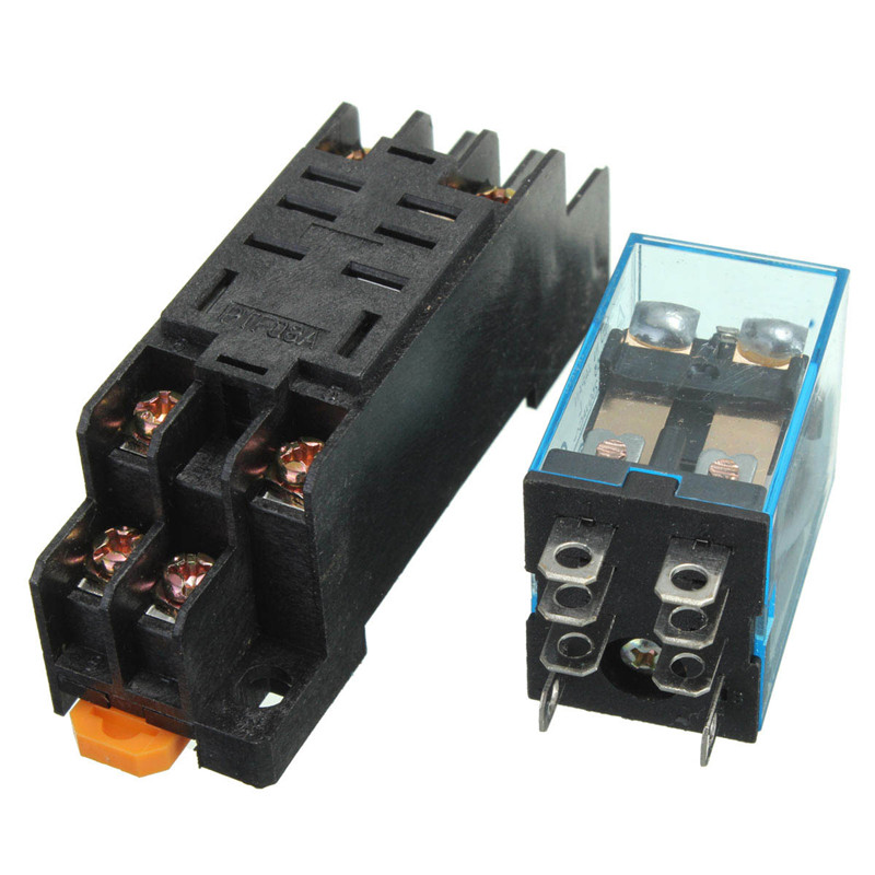 10x Coil Power Relay LY2NJ 12V DC DPDT 8 Pin HH62P JQX 13F SET Socket Base 10x coil power relay ly2nj 12v dc dpdt 8 pin hh62p jqx 13f set jqx-13f wiring diagram at highcare.asia