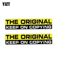 Yjzt 2x 15 cm * 3 cm personalidade reflexiva etiqueta do carro aviso o original manter em copiar decalque pvc 12-1205