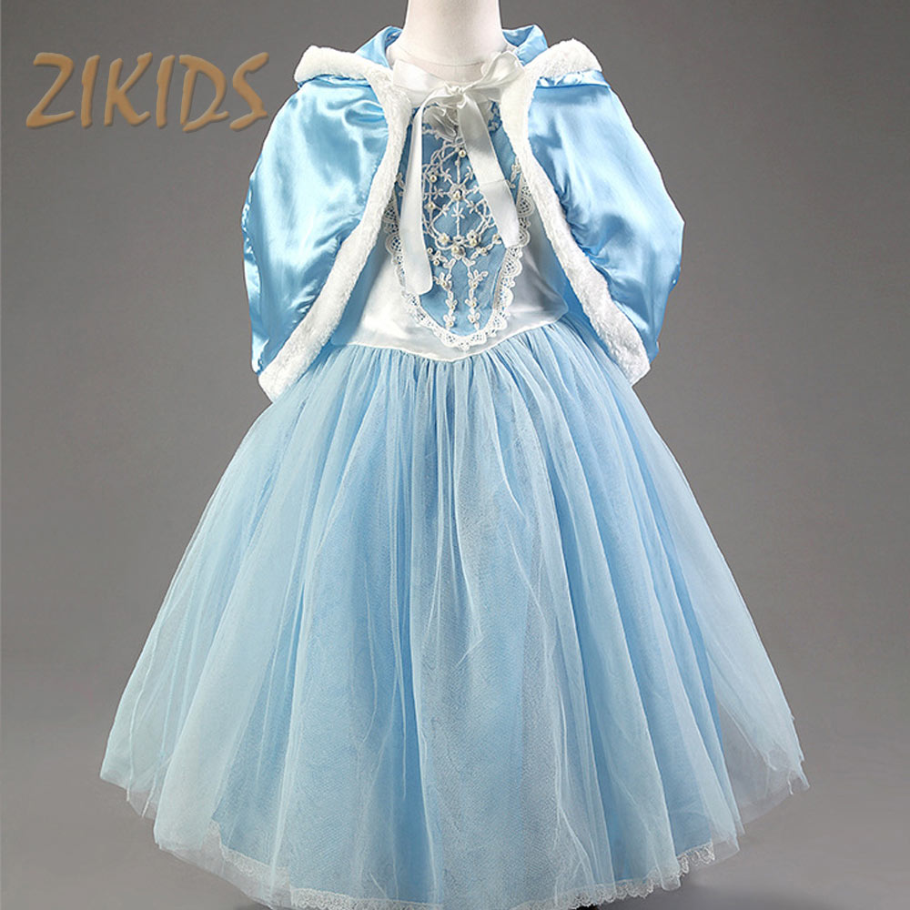 Christmas Gifts for Kids Girls Dresses Elsa Cosplay Princess Costume Party Festival Girl Children 2017 Sale Include Hooded Cape fantasy snow white princess dress for girls christmas party dresses children clothing infant girl cosplay costume kids clothes