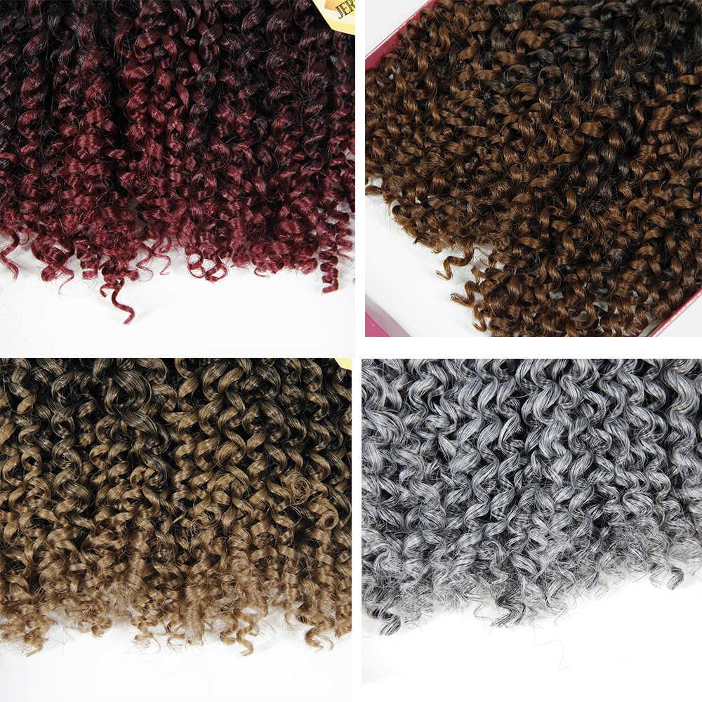 Гаванские кудри волос Синтетические косички для наращивания эффектом деграде (переход от темного к плетение волос для наращивания бразильские волосы Джерри пучки волнистых волос кудрявый вьющиеся волосы оптом