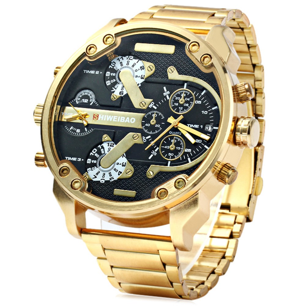 все цены на Men Watches Luxury Brand Men Military Multiple Time Zone Wrist Watches Full Steel Men Sports Watch Relogio Masculino 2018