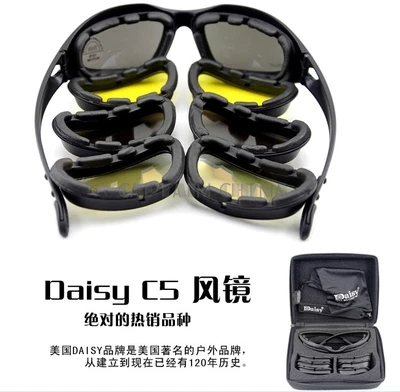 Polarized C5 Desert SunGlasses Tactical Hunting Goggles Outdoor Sports Airsoft Eyewear UV400 Glasses ...
