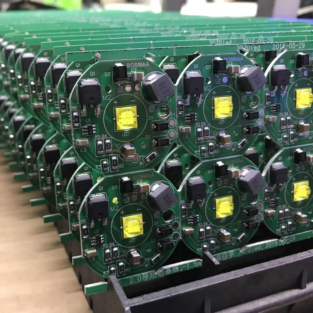 Bosmaa 6 Вт 10 Вт 20 Вт светодиодный чип xhp70 для автомобиля света moto свет DIY 7070 SMD светодиодный чип свет печатной платы модуля 6500 К высокое Мощность ...
