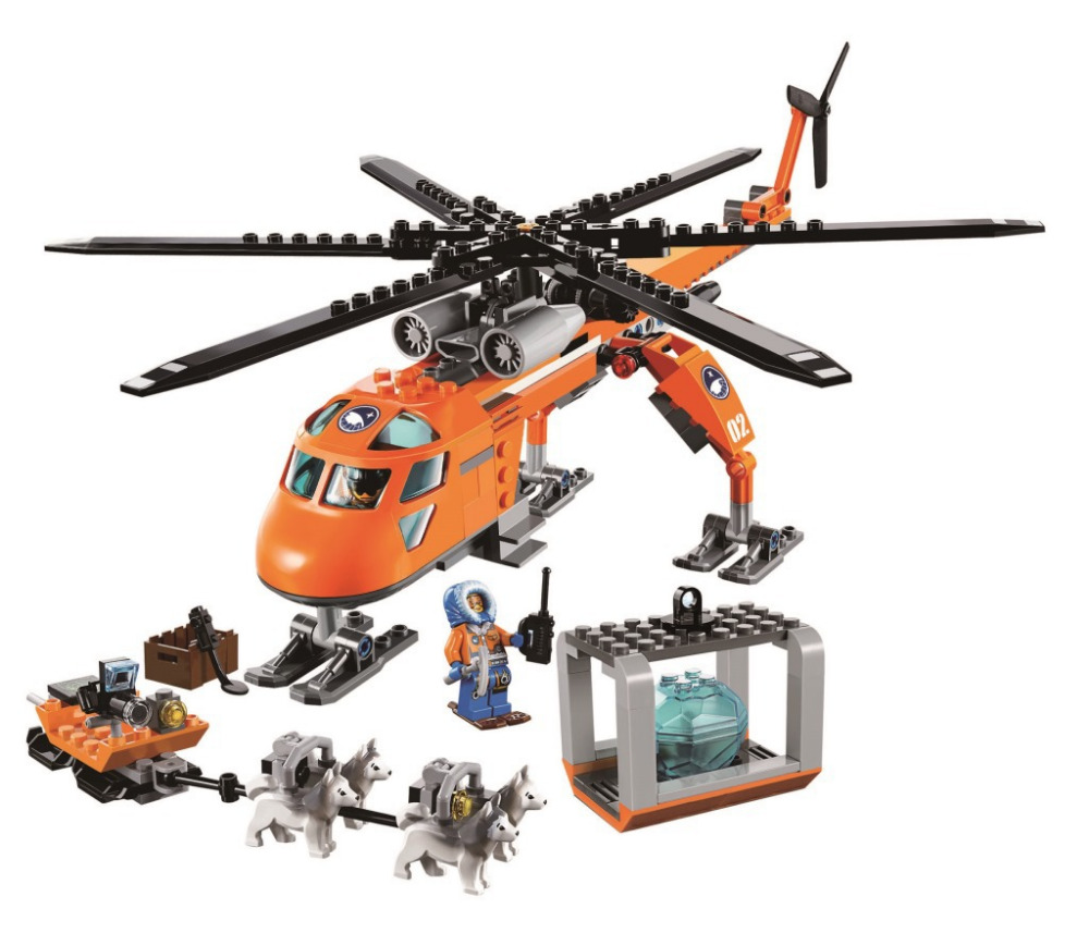 BELA City Arctic Helicrane Building Blocks Classic For Girl Boy Kids Model Toys Marvel Compatible Legoe bela 10439 compatible lepin city arctic helicrane building blocks policeman figure toys for children girls