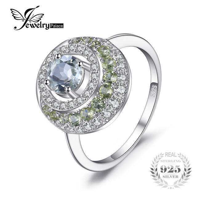 Fine Jewelry Genuine Green Amethyst Sterling Silver Ring FPPHt9