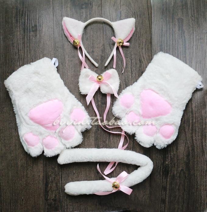Cat cosplay Neko anime fancy costume set lolita plush ...