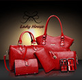 6 bags/set crossbody bags for women 2015 bolsos carteras mujer marca shoulder bags female women messenger bags 40ZY