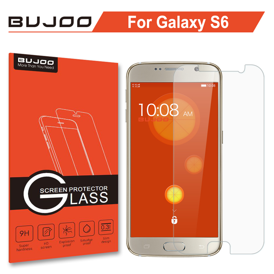 Original BUJOO Real 2.5D Screen Protector Tempered Glass For Samsung Galaxy S6 S