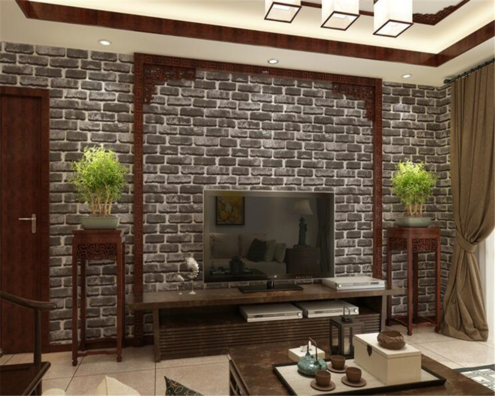 все цены на beibehang pvc Style 3D Stereo Wallpaper Simulation Brick Culture Stone Red Brick Wallpaper Hot Pot Restaurant Hotel Wall paper