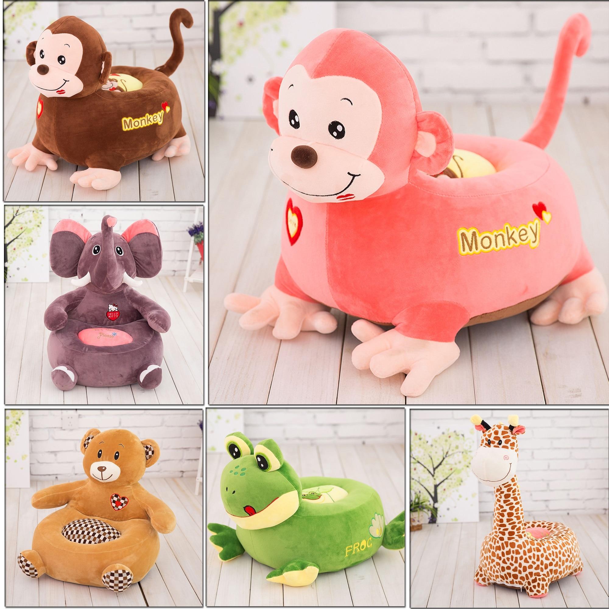 0-6Y Baby Cute Plush Giraffe Childrens Sofa Stuffed Animal Cushion Seat Soft Toys