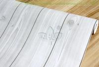Free Shipping Wall Volume Stickers Wall Decor Pvc Wallpaper Wood Grain Film Wardrobe Door Grey Stripe