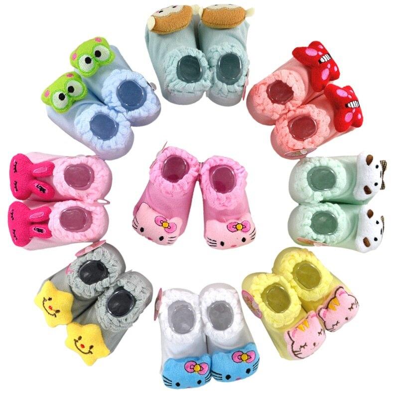 Pambıqdan Yenidoğulmuş Doll corablar Şirin sürüşməyən Baby - Körpələr üçün geyim - Fotoqrafiya 4