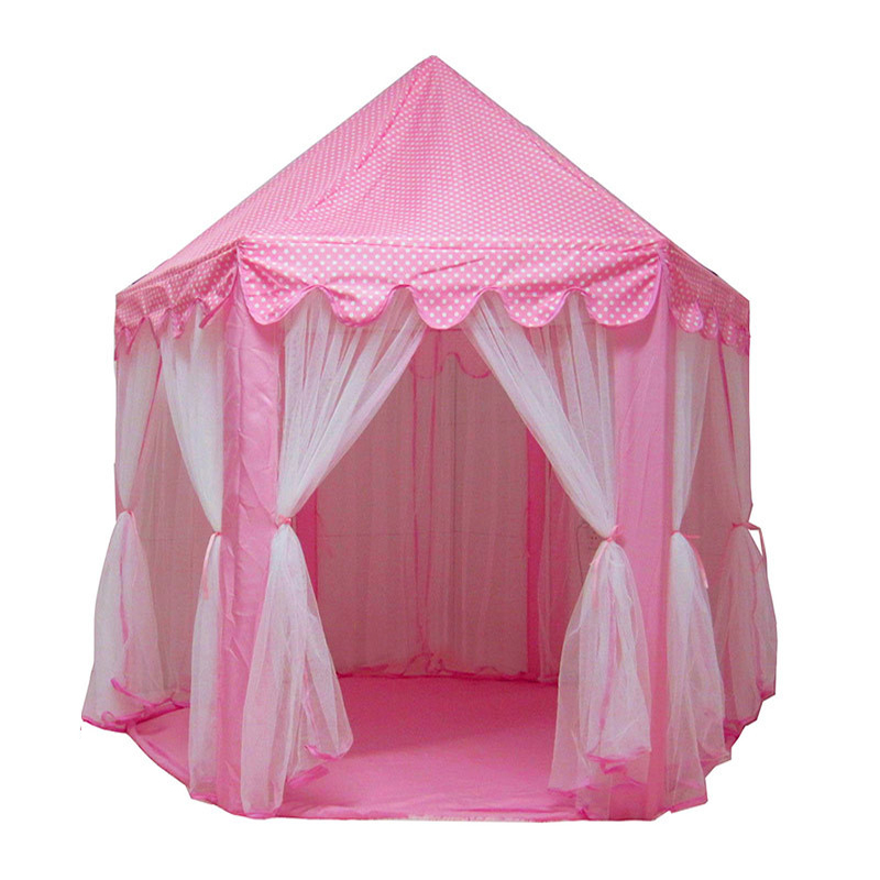 Play Tent Play House Ball Pit Pool Portable Foldable Princess Folding Tent Castle Gifts Toys Tents For Kids Children Girl Baby baby foldable tents pink play house for camping kids ball pit outdoor toys