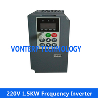 mini size AC drive, frequency inverter converter 50Hz to 60Hz 1.5KW 220V Single phase input and 220v 3 phase output