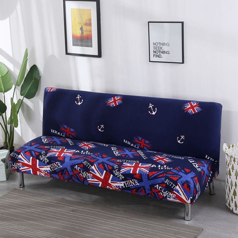 American Style Flag Pattern Print Sofa Bed Cover Length 160 To195cm Slipcover Elastic Stretch Flexible Folding 3-seat Sofa Cover