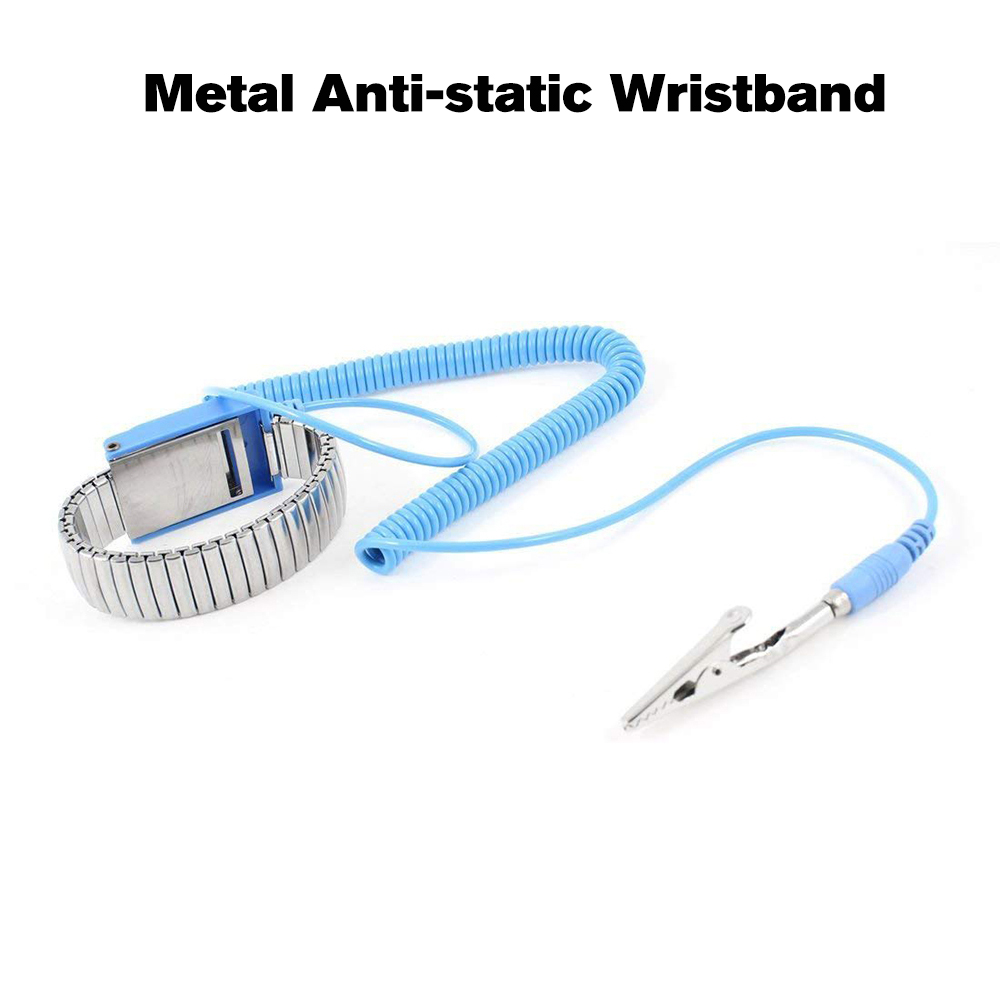 Purposeful Metal Antistatic Wristband Esd Grounding Discharge Adjustable Wired Anti-static Wrist Strap Blue